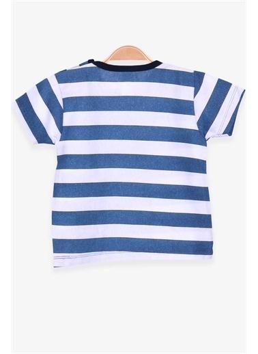 Breeze Erkek Çocuk Tişört Patlı Çizgili Koyu Mavi  Lacivert